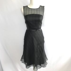 Express Semi Sheer Black Dress